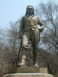 Statue de David Livingstone à Victoria Falls, Zimbabwe