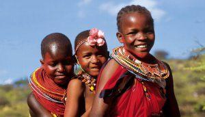 Enfants maasaï en Tanzanie