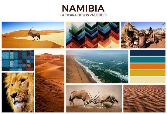 Moodboard de Namibia