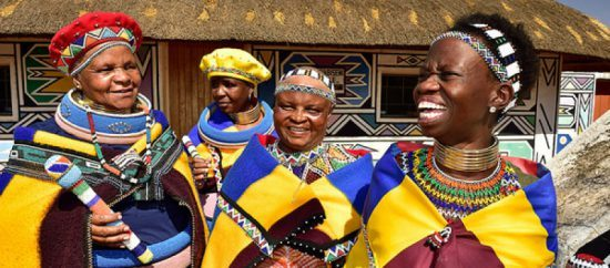 Traditionally dressed Ndebele women in Rhino Africa's Complete Guide