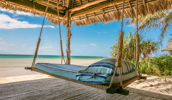 Manda Bay is a boutique lodge on the tip of an island in Lamu, Kenya