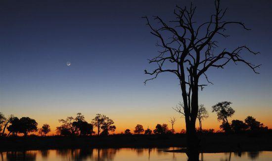 Sunset in Hwange National Park, Zimbabwe