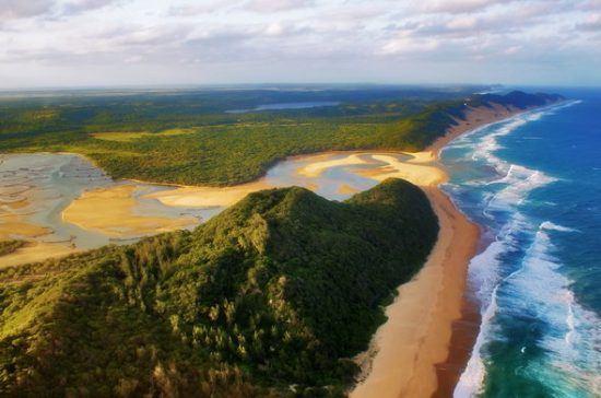 Views of iSimangaliso Wetland Park and the ocean in KwaZulu-Natal in Rhino Africa's Complete Guide