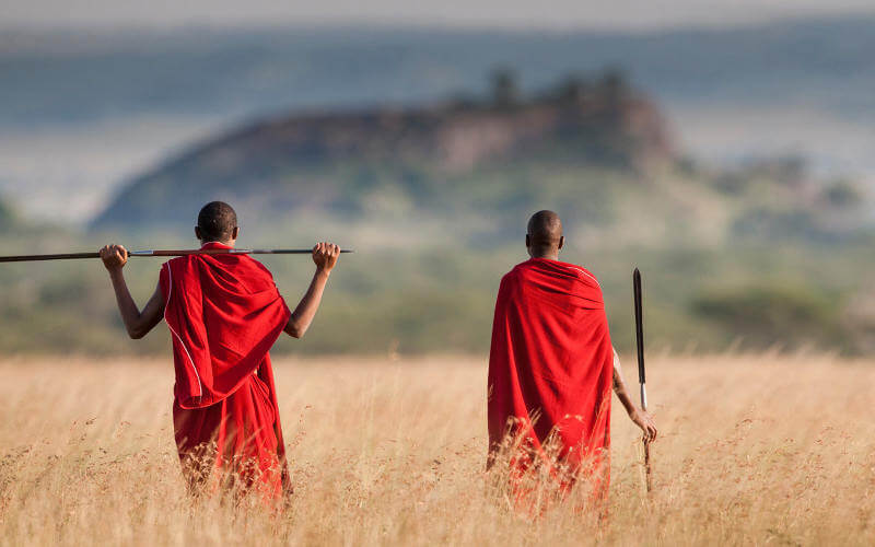maasai warriors near Lake Manyara