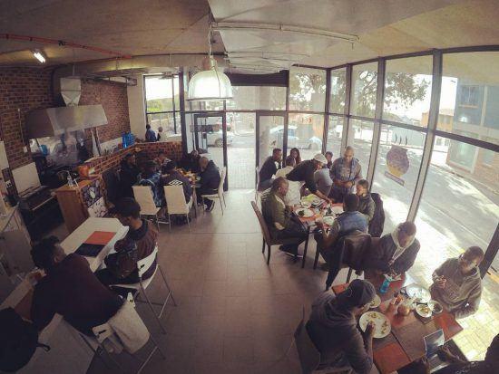 Vista panorâmica do Pahari African Restaurant, Cidade do Cabo