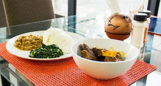 Uma típica refeição do Zimbábue.