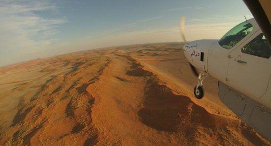 Sobrevolando Namibia
