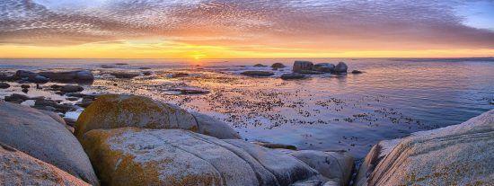 Sonnenuntergang vom Strand in Camps Bay aus