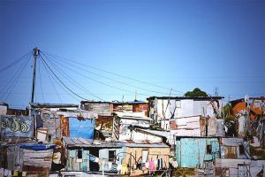 Le township de Shantytown, à proximité du Cap