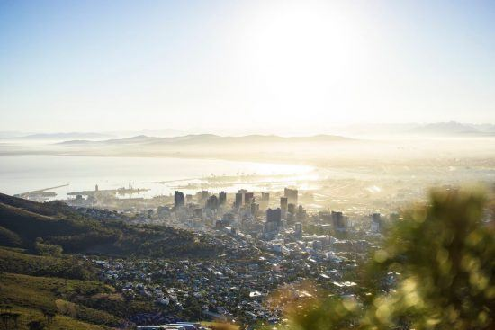 Kapstadt im Sonnenaufgang