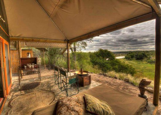 Meno a Kwena Tented Camp overlooks the Boteti River in Botswana is one of the Royal family's favourite places to stay in Africa