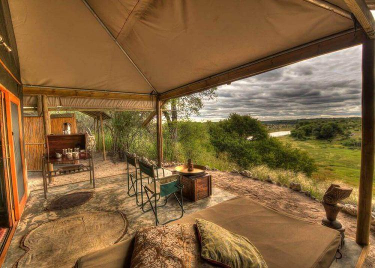 View over the Makgadikgadi Pans in Botswana from the Meno a Kwena Tented Camp