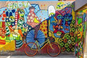 Street art dans la rue de Soweto, plus grand township d'Afrique du Sud