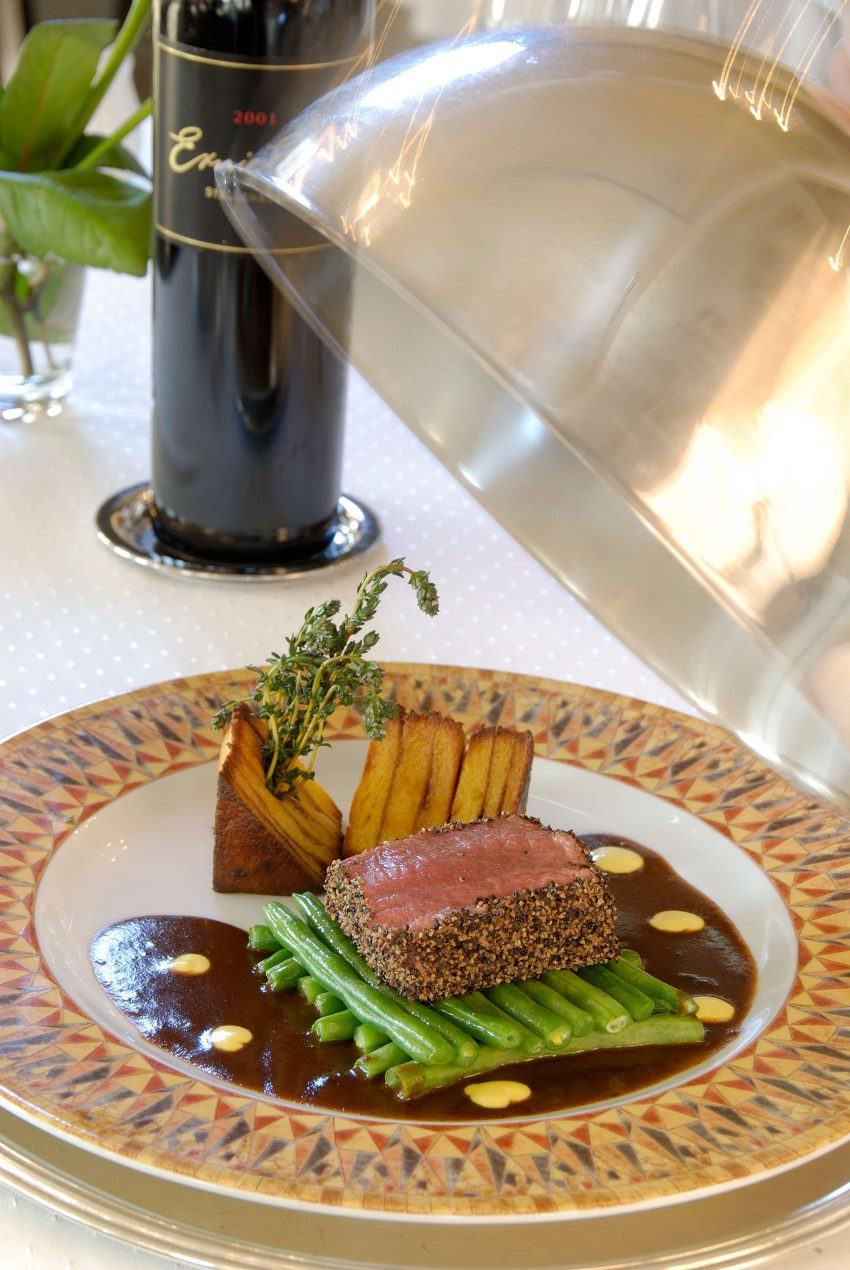 Saftiges Steak im Hotel Heinitzburg