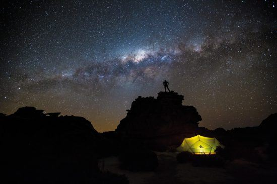 Gazing up at the stars in the Cederberg