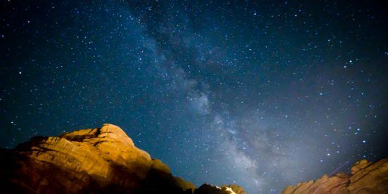 Gazing up into the stars at Kagga Kamma in the Cederberg