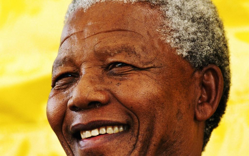 Nahaufnahme von Nelson Mandela