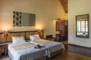 The bedrooms are warm and comfortable at Hippo Hollow Country Estate luxury African safari