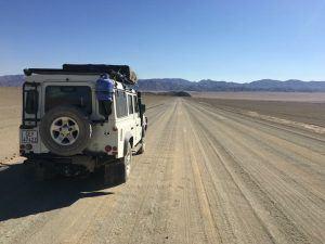 The Landrover on our Namibian trek