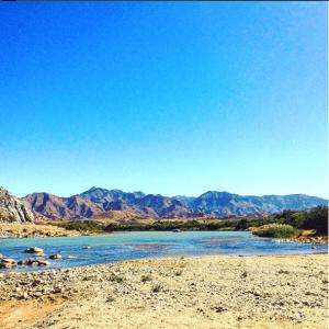 River on Namibian trek