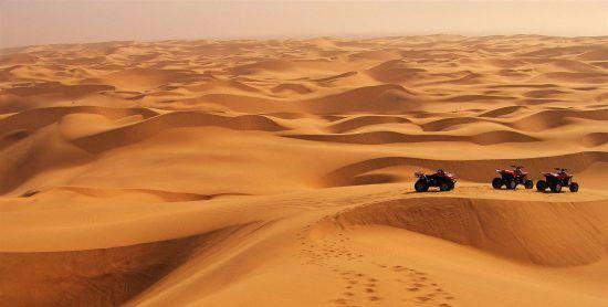 Die schier endlose Wüste in Namibia