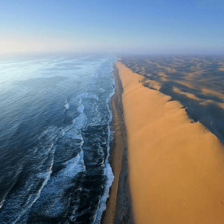 Namibia, where the desert sands meet the sea