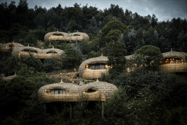 The Bisate Lodge suites in Rwanda