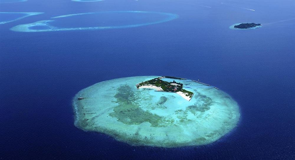Una vista aérea de una de las islas en Seychelles
