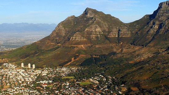 Devil's Peak vista a partir do topo da Lion's Head