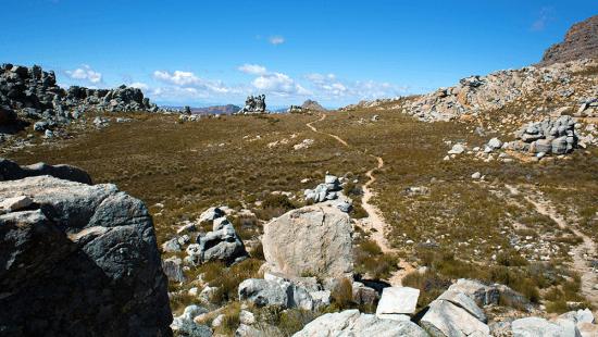 Trecho da trilha batida que leva à Maltese Cross em Cederberg. Foto por: Nathalia Marangoni