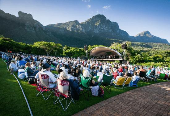 Apresentações musicais são promovidas em Kirstenbosch durante o verão