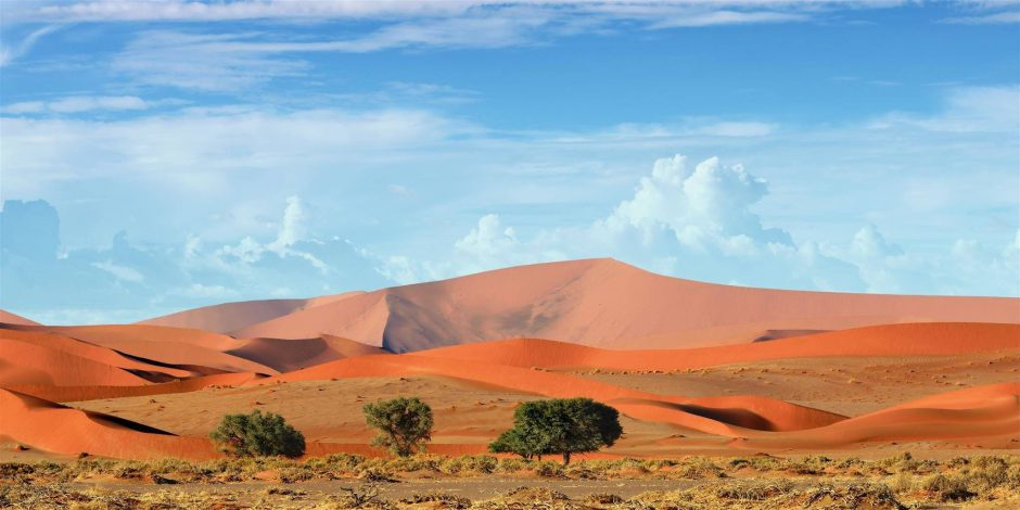 Dunes in Sossusvlei in Namibia
