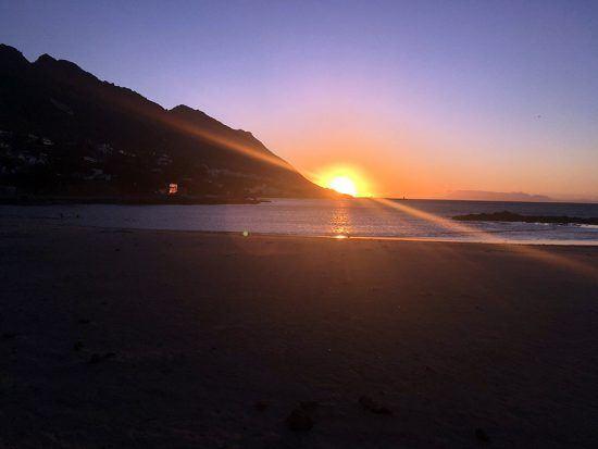 Pôr do sol em Gordon's Bay