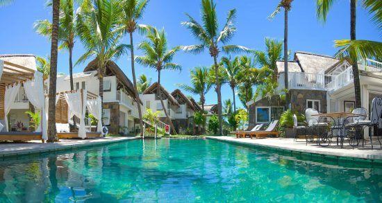 Poolbereich des 20 Degrés Sud auf Mauritius