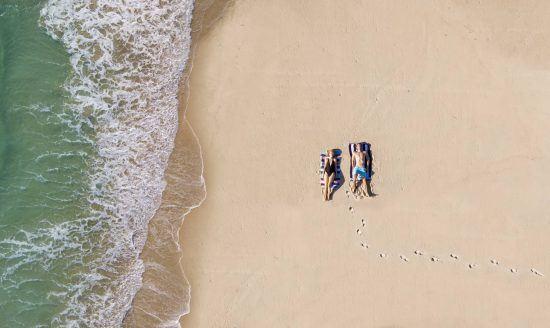 Entspannung am Strand in Südafrika