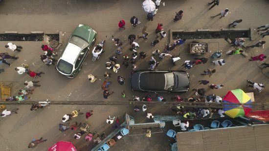 Vista aérea de las calles de Brazzaville.