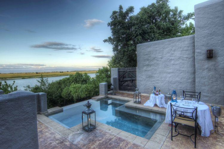 Chobe Game Lodge's suite pool in Botswana