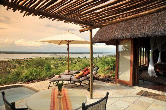 Vistas desde la suite de Ngoma Safari Lodge