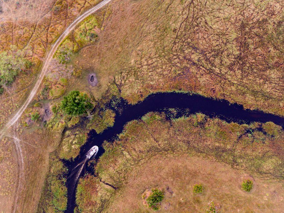 Calendrier de voyage africain: Vue du ciel du parc national de Chobe