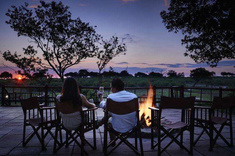 Night view at Belmond Savuti in Chobe National Park, Botswana