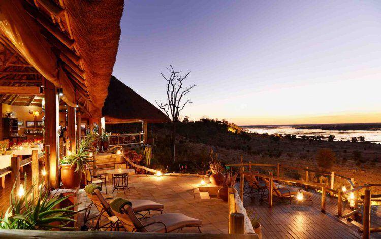 Ngoma Safari Lodge view from deck in Chobe National Park, Botswana