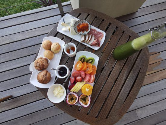 Part of breakfast at Delaire Graff served at the Superior Lodge