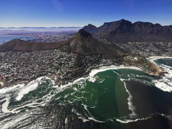 NAC Helicopter flight over Cape Town