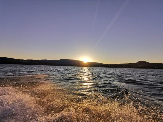 Sunset over the Clanwilliam Dam