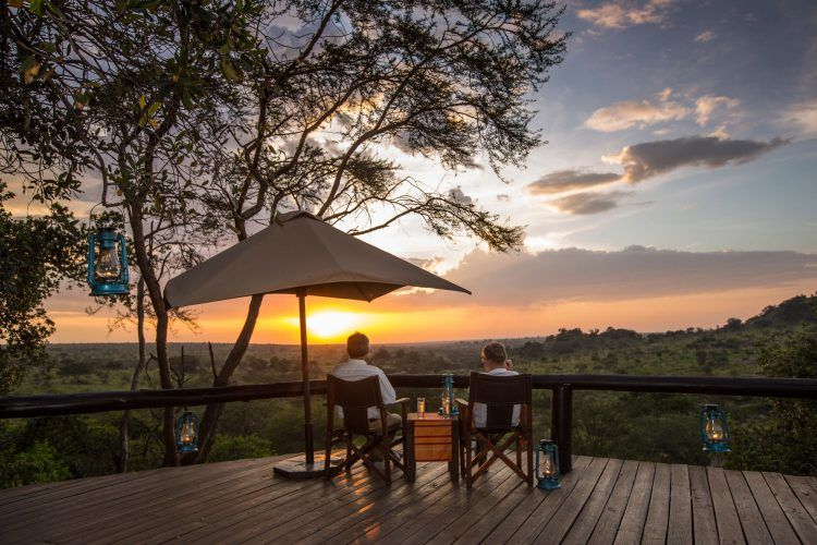Incredible views from the deck at the Elewana Serengeti Migration Camp