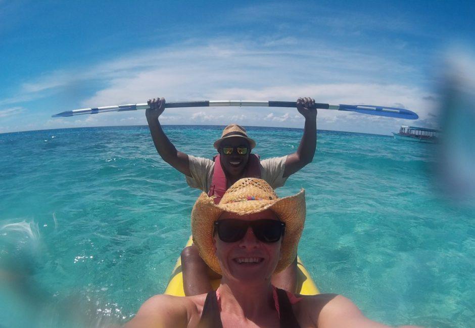 Séance Kayak à Reethi Beach, Maldives