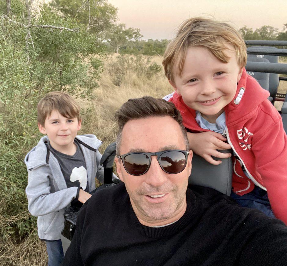 David and the kids during lockdown at Silvan