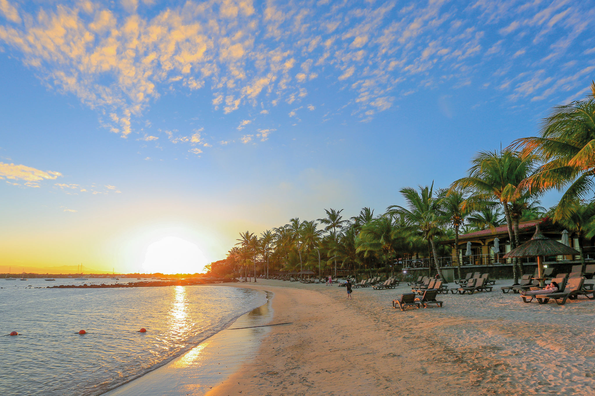 Der Strand vom Hotel Mauricia Beachcomber auf Mauritius