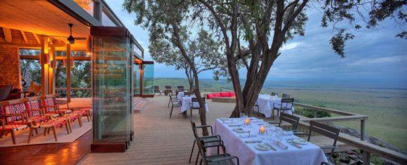 Angama Mara tem uma vista magnífica das planícies abertas do Quênia