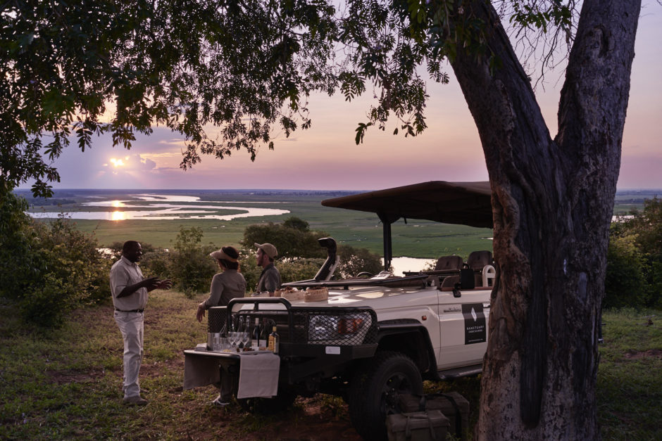 Aperitivo con una vista increíble del río Chobe